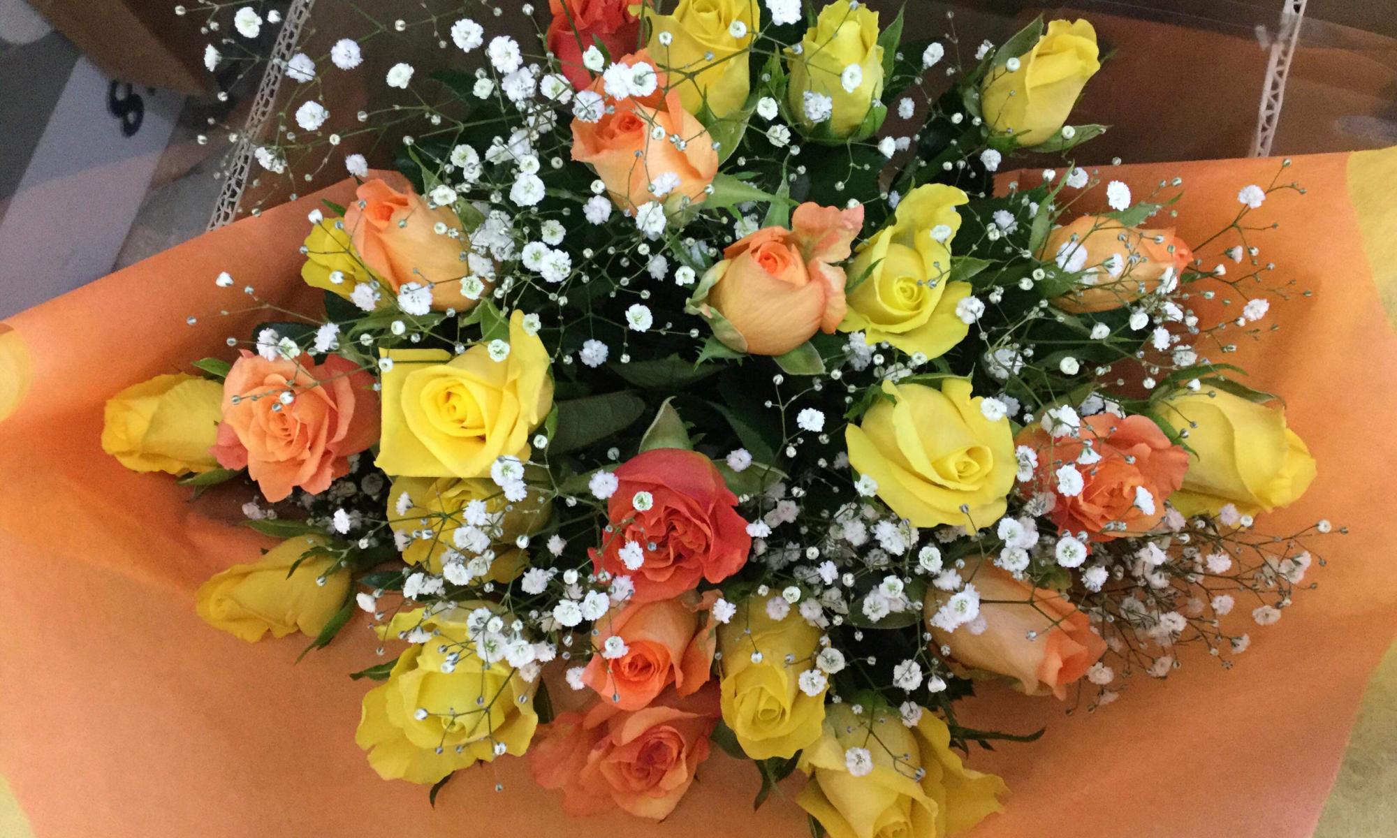 ビタミンカラーの花束!